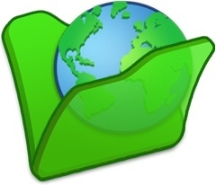 Folder green internet