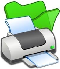 Folder green printer