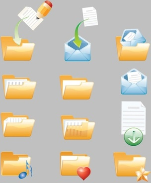 folder icon vector cute