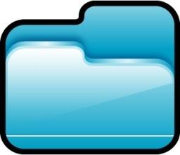 Folder Open Blue