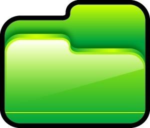 Folder Open Green