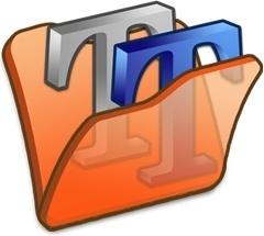 Folder orange font2