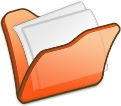 Folder orange mydocuments