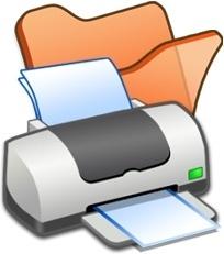 Folder orange printer
