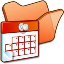 Folder orange scheduled tasks