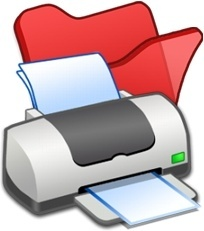Folder red printer