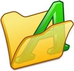 Folder yellow font1