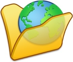 Folder yellow internet