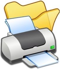 Folder yellow printer