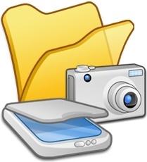 Folder yellow scanners cameras