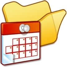 Folder yellow scheduled tasks