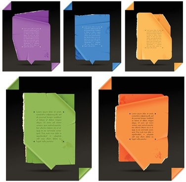 folds of paper vector