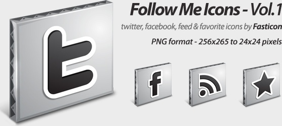 Follow Me Icons Vol 1 icons pack