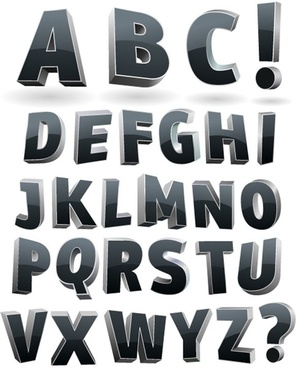 font design series 36 vector