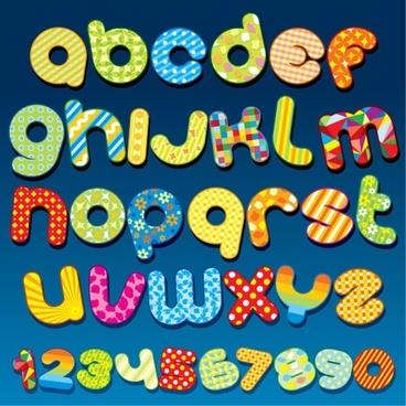 font design series 55 vector