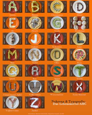 food amp typographie