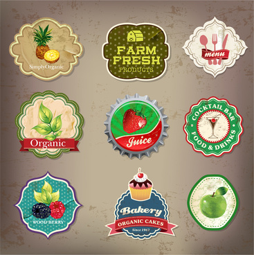 food and drink label collection