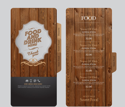 illustrator template drink menu free vector download 224 976 free