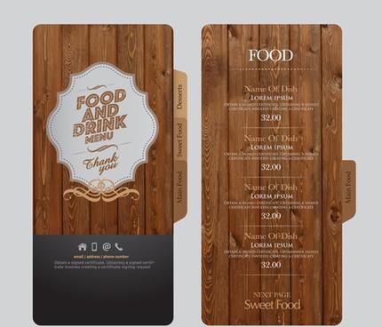 food and drink menu design creative vector