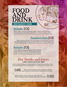 food and drink sale poster vector