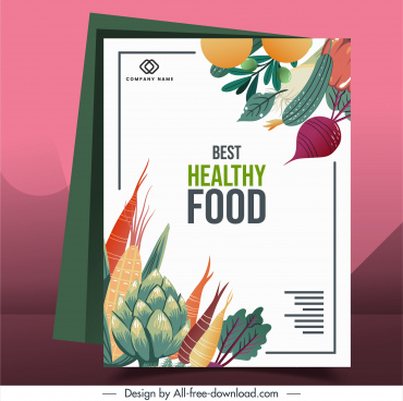 food brochure template colorful classic decor