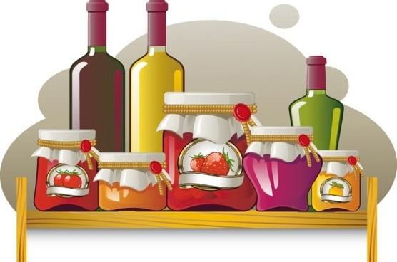 food jar 02 vector
