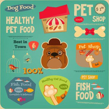 food sale sticker with logos vectors