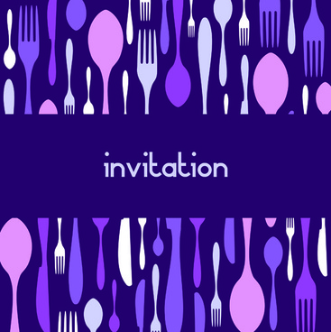 food theme invitation cards cover design vector