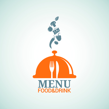 food with drinks menu logo vector