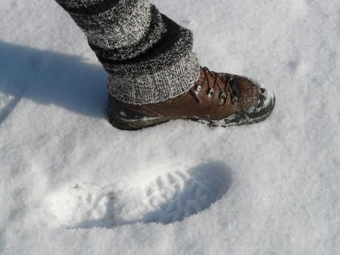 foot footprint step