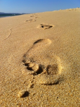 foot footprint sun