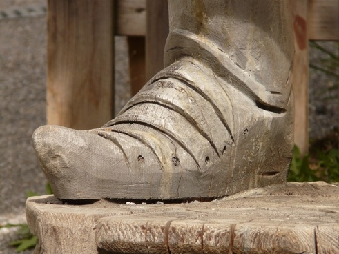 foot shoe wood