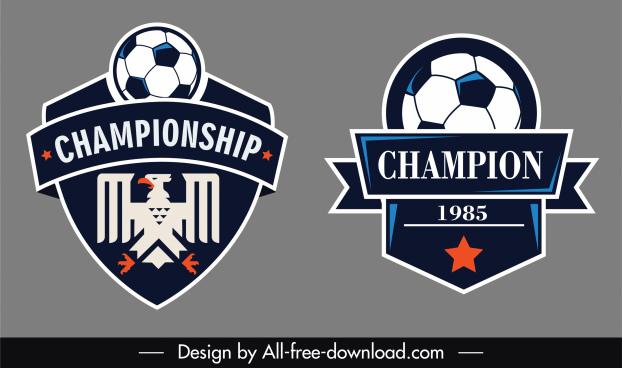 footbal league logo template flat classic shapes design