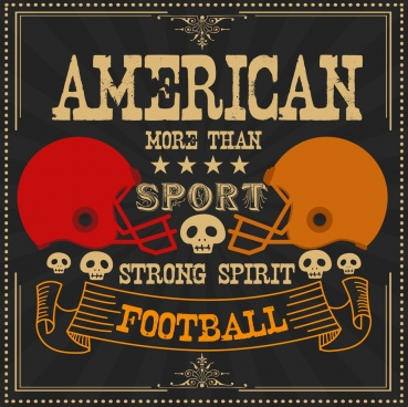 football advertising skull helmet icons retro design