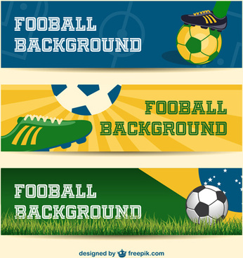 football background banner vector