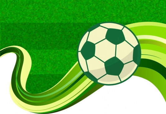football background green field backdrop curves lines decoration