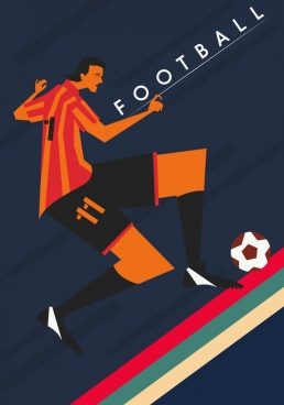 football banner classical decor male player icon