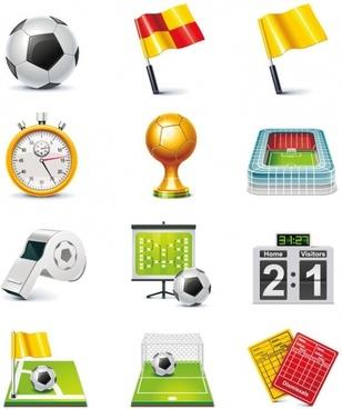 Football Match Vector Icon Set
