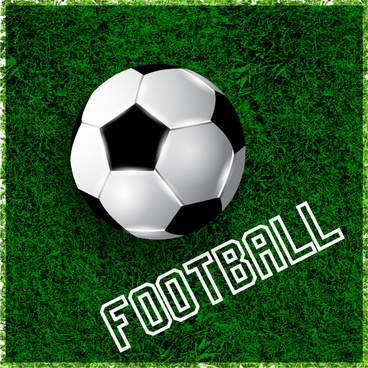 football on green grass design element