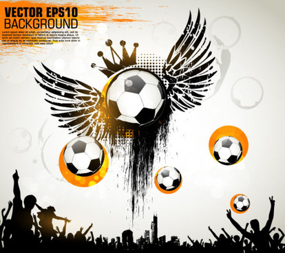 football theme poster vector