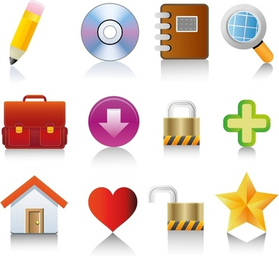 For web and internet vector icons set