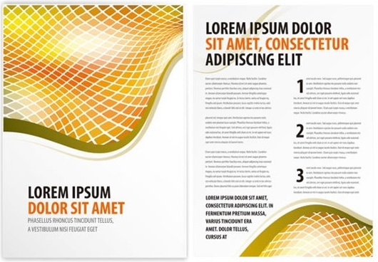 foreign leaflets folding album layout layout vector