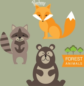forest animals illustration