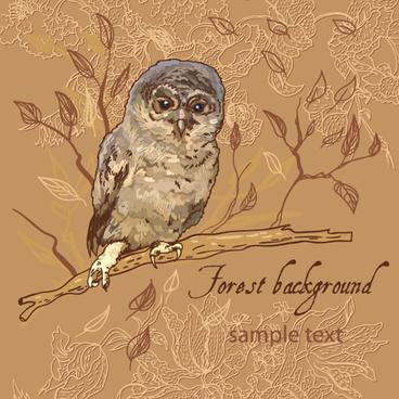 forest birds vector background