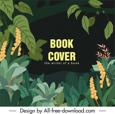 forest book cover leaves sketch dark classic design
