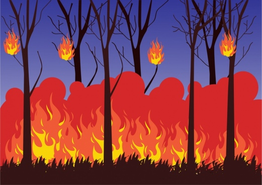 Vector Fire Background Ai Free
