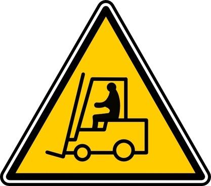 Fork Lift Sign clip art