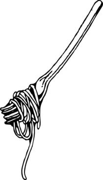 Fork With Spaghetti clip art