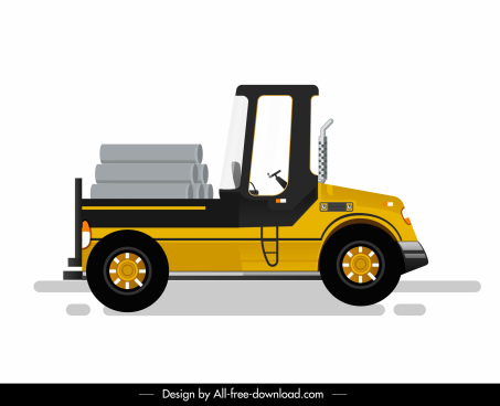 forklift icon modern colored design