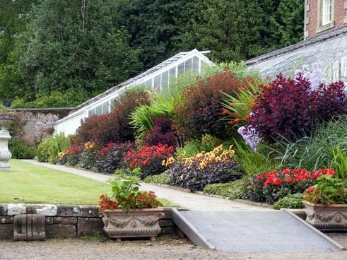 formal flower beds
